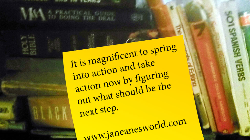 Photo Credit: Janeane Davis, Magnificent Monday, take action now, next step