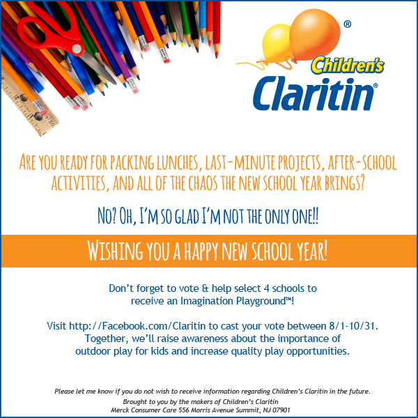 As a member of the Children's Claritin Mom Crew, I receive product samples and promotional items to share and use as I see fit. No monetary compensation has taken place and any opinions expressed by me are honest and reflect my actual experience.