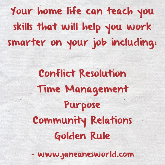 at home learn to work smarter on the job www.janeanesworld.com/5-reasons-home-helps-work-smarter-job