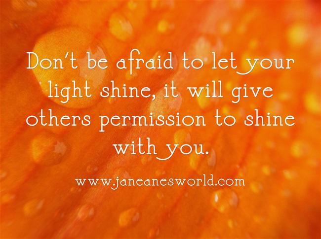 Be like Nelson Mandela, let your light shine