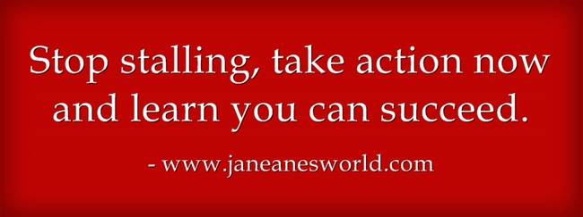www.janeanesworld.com stop stalling, you can succeed