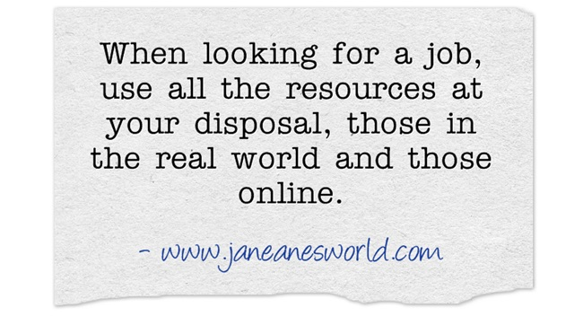 network to find a job www.janeanesworld.com