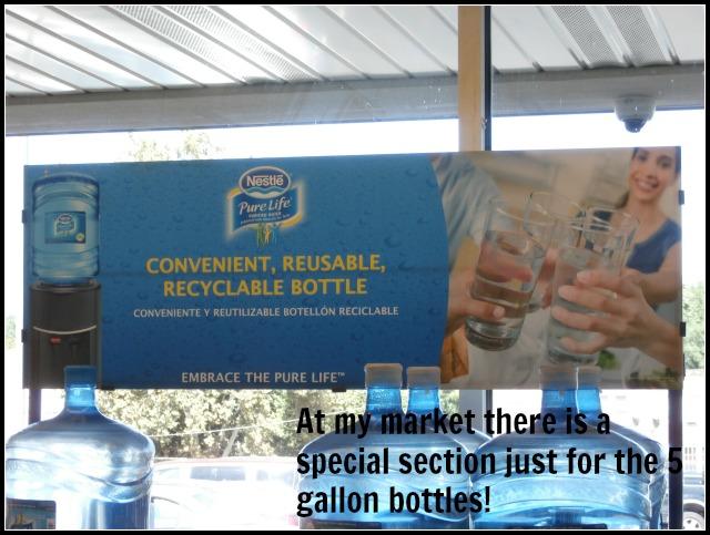 5 gallon display shelf Nestle Pure Life Water www.janeanesworld.com