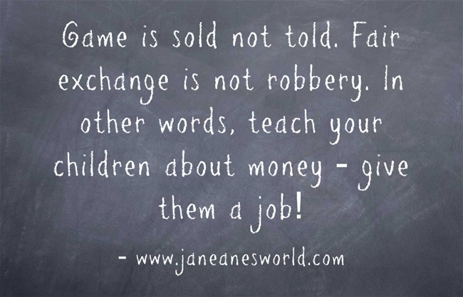 give your children a job