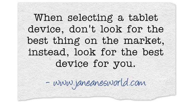 use a tablet www.janeanesworld.com