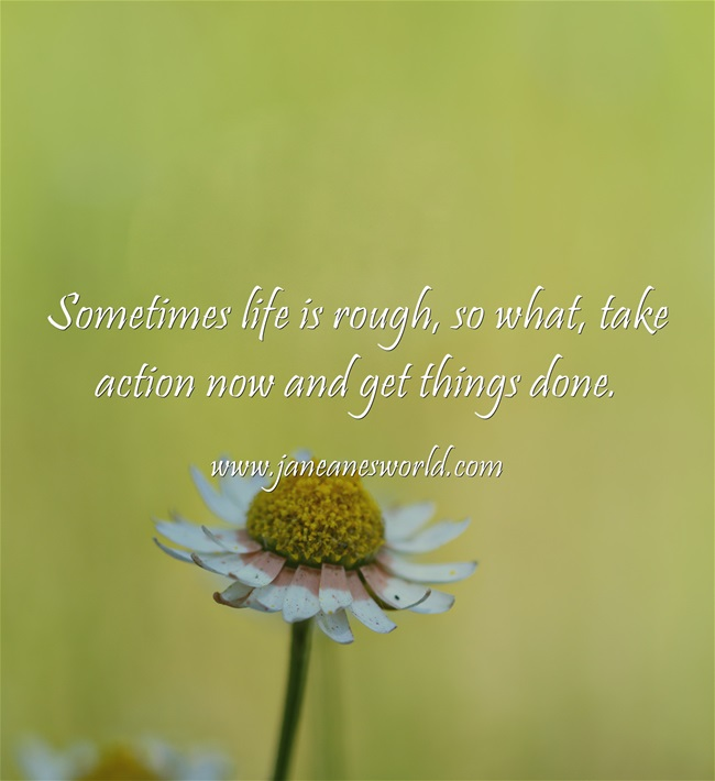 take action now life is hard www.janeanesworld.com