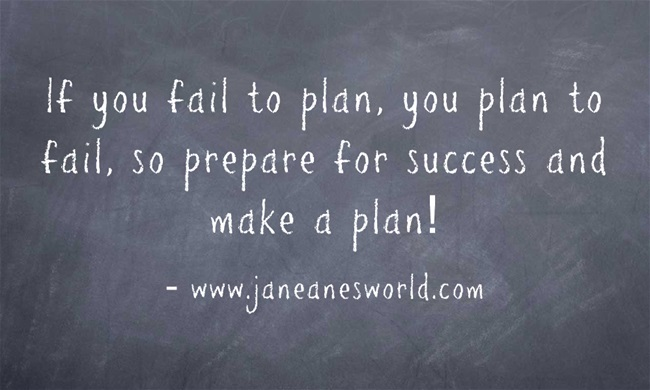 """You have heard people say it all your life, '''If you fail to plan, you plan to fail."""" In addition, you know that you do a better job when you work with a plan rather than just winging it. So why aren't you creating a plan and working according to the plan."""