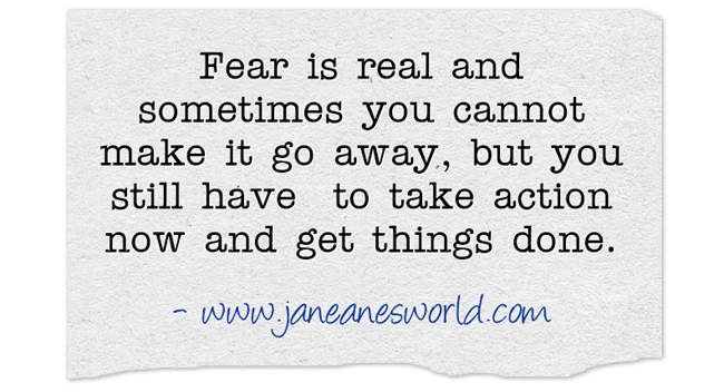 take action now even if afraid www.janeanesworld.com