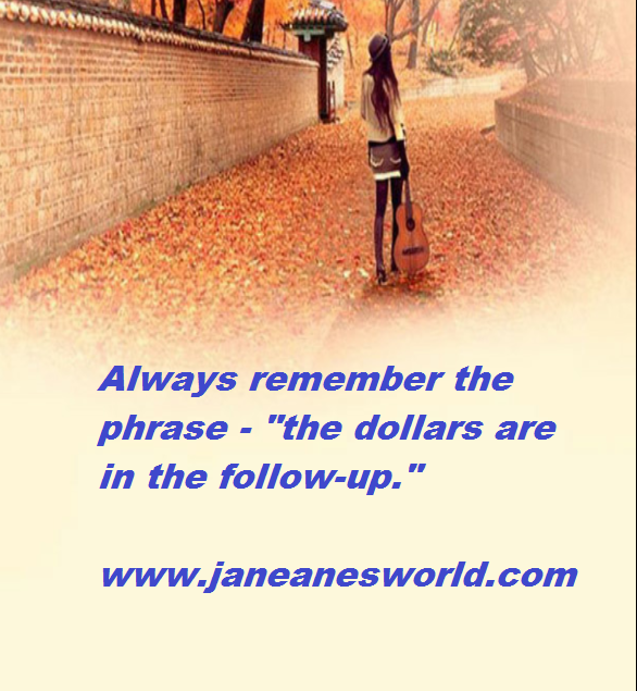 """Looking for a job is not easy, but you must remember to do after interview follow-up. The follow-up is where you cement a good impression and provide extra support to statements made during the interview. Always remember the phrase - """"the dollars are in the follow-up."""""""