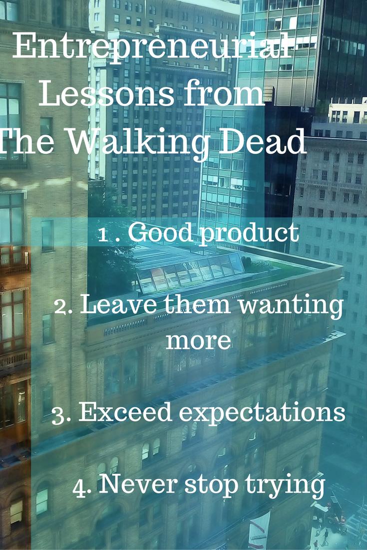 walking dead entrepreneurial lessons