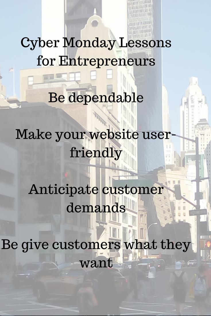 cyber Monday lessons for Entrepreneurs
