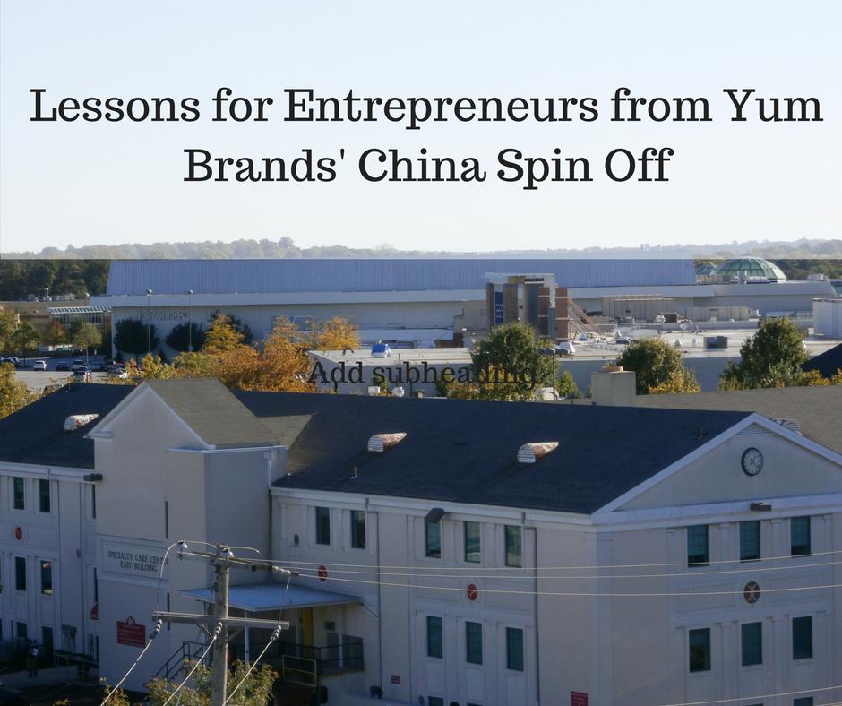 Yum Brands' lessons for Entrepreneurs