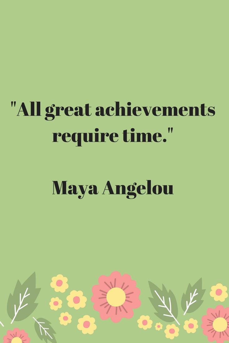 achievements take time