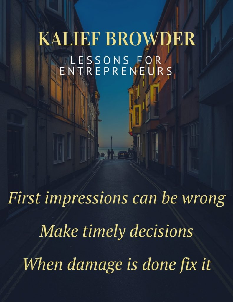 kalief browder and lessons for entrepreneurs