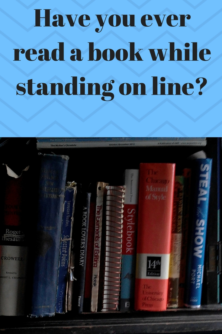Read a book while waiting in line