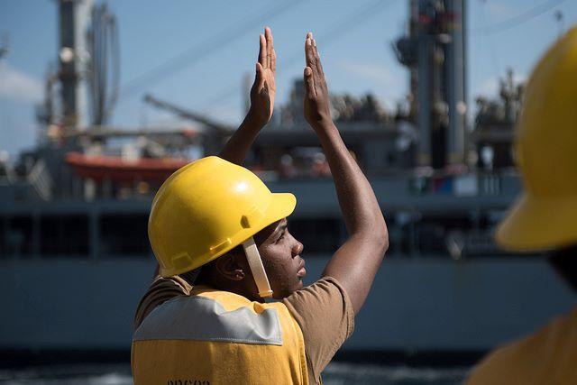 U.S. Navy Boatswain's Mate 3rd Class Ciara Heath