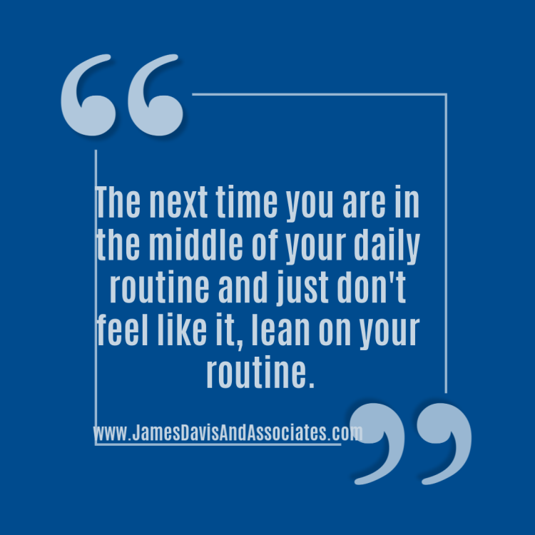 The next time you are in the middle of your daily miracle morning routine and just don't feel like it, lean on your routine.The routine will help you keep moving.