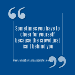 Sometimes you have to cheer for yourself!