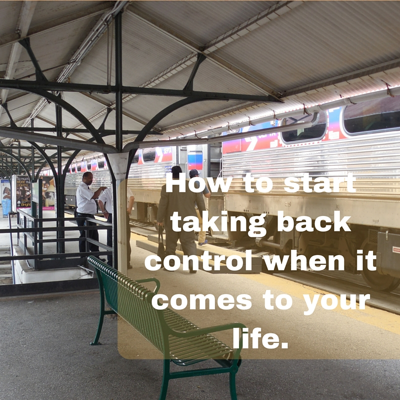 Taking back control of your life is scary, but if you have lost your way it is important and you must do it.