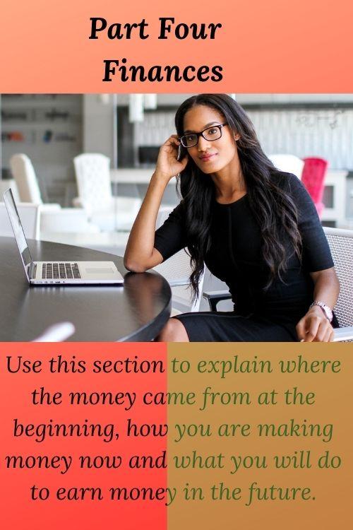 Business Planning Part Four Finances