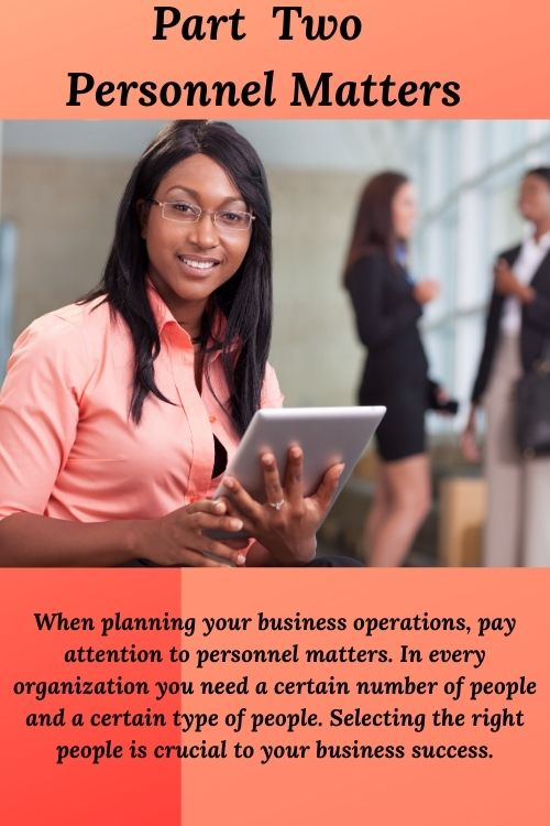 Business Planning Part Two - Personnel Matters