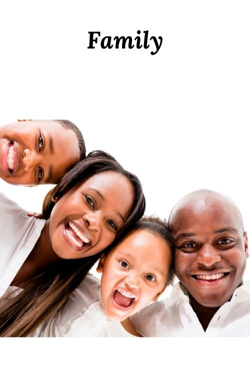 African American Family and the word family