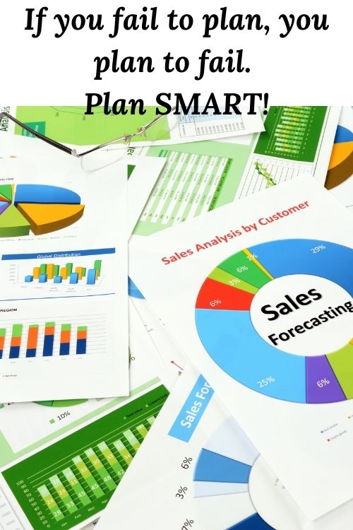 Graphs and charts and the words If you fail to plan, you plan to fail. Plan SMART>