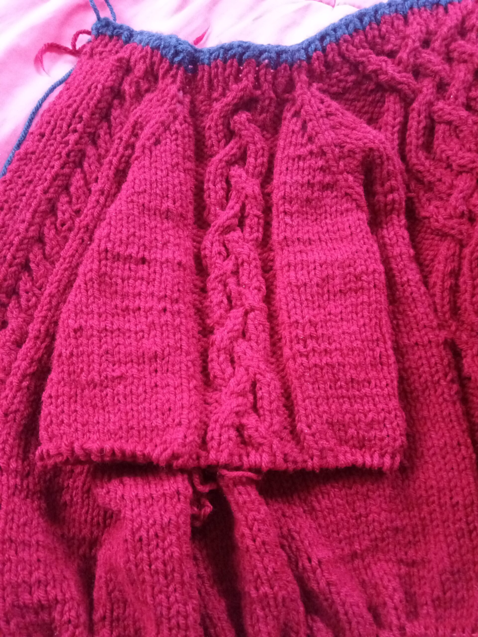 red abled sweater